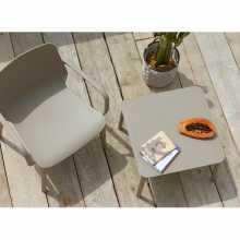 Table basse Argo H40 Scab Design hôtel jardin extérieur en technopolymère empilable