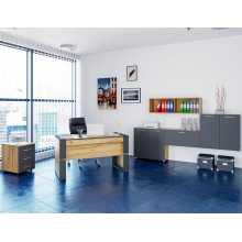 Business Office 1 - Mobilier de bureau complet en bois mélaminé, accueil, studio, école, hôtel