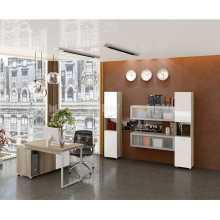 Business Office 2 - Mobilier de bureau complet en bois mélaminé, accueil, studio, école, hôtel