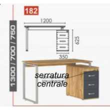 Bureau angulaire contract office différentes dimensions en bois BM* école, cabinet, hôtel