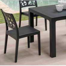 Ares 70 - Table simple en polypropylène 70x70xH74cm pour l'extérieur pour restaurant et bar certifié pour l'usage locale