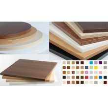 SATURNO 1.8 - Plateau de table en bois mélaminé épaiss.bord 18mm bar, pizzeria, restaurant