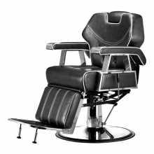 Chaise fauteuil de coiffeur barbier professionnel mod.6885 reclinable, levable pour salon de coiffure