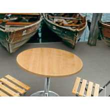 Saturno RW - Table avec pied en acier chromé, dessus de bar de jardin en plein air