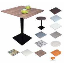 MARTE QV-VS 42 - Table Werzalit avec pied en fer (fonte) pour bar-restaurant d'extérieur