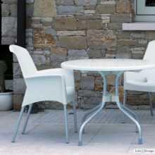 SUPER JENNY - chaise (fauteuil) Empilable en polypropylène avec pieds en aluminium SCAB DESIGN pour bar, restaurant, hôtel
