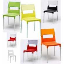 DIVA - Chaise en polypropylène renforcé avec fibre de verre et pieds en aluminium SCAB DESIGN pour bar, restaurant, hôtel