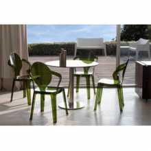 SPOON - Chaise  Empilable en Polycarbonate pour l'intérieur et l'extérieur, bar,restaurant, piscine,hôtel SCAB DESIGN