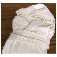 Wellness - Peignoir avec capuche en éponge pur coton pour hôtel, auberge b&b, Spa