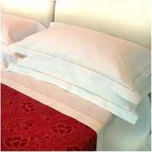 DOLCE VITA - Drap une place avec cordon pur coton lit une place, lit deux places pour hôtel, auberge, b&b, pensions