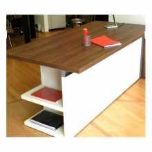 ELEGANCE - Bureau contract office directionnel en bois mélaminé pour bureau, cabinet, hôtel