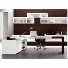 MATRIX -Bureau contract office directionnel en bois mélaminé pour bureau, cabinet, hôtel