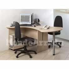 Devona - Bureau contract office deux places différentes dimensions en bois BM* bureau, cabinet, hôtel