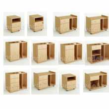 ADONIA CV - Conteneurs avec tiroirs et compartiments contract office en bois NM* pour bureau, cabinet, hôtel