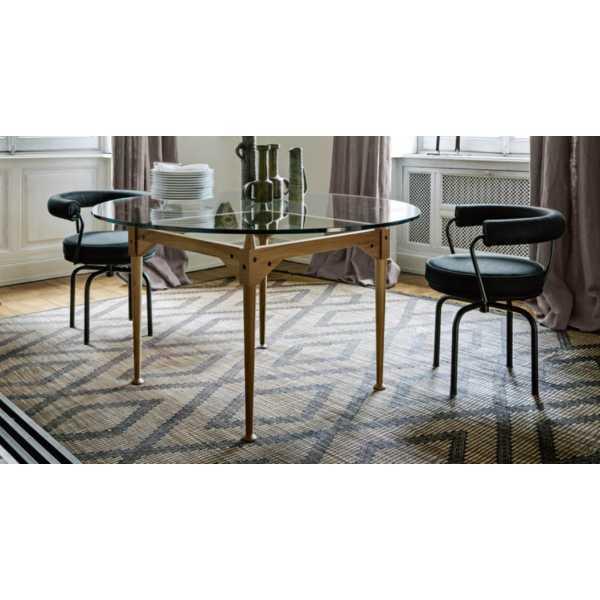 Lc7 fauteuil pivotant chaise longue en co cuir cuir for Chaises longues confortables